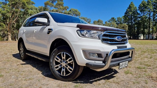 Used Ford Everest UA II 2019.00MY Trend Nuriootpa, 2018 Ford Everest UA II 2019.00MY Trend Arctic White 10 Speed Sports Automatic SUV