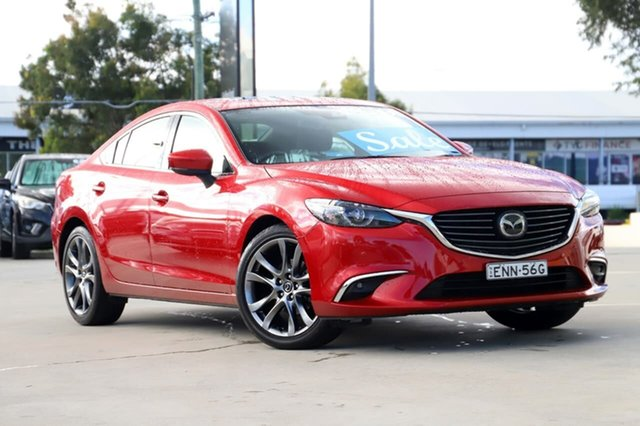Used Mazda 6 GL1031 Atenza SKYACTIV-Drive Kirrawee, 2018 Mazda 6 GL1031 Atenza SKYACTIV-Drive Red 6 Speed Sports Automatic Sedan