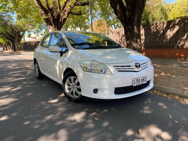 Used Toyota Corolla ZRE152R MY11 Ascent Hawthorn, 2011 Toyota Corolla ZRE152R MY11 Ascent White 4 Speed Automatic Hatchback
