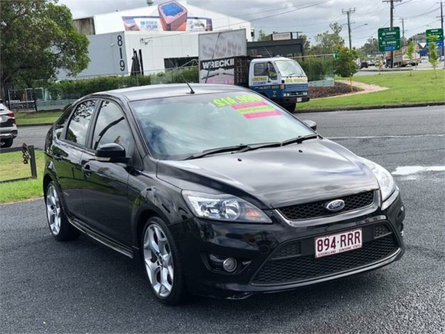 Used Ford Focus LV XR5 Turbo Archerfield, 2010 Ford Focus LV XR5 Turbo Black 6 Speed Manual Hatchback