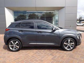 2017 Hyundai Kona OS MY18 Highlander D-CT AWD Grey 7 Speed Sports Automatic Dual Clutch Wagon.