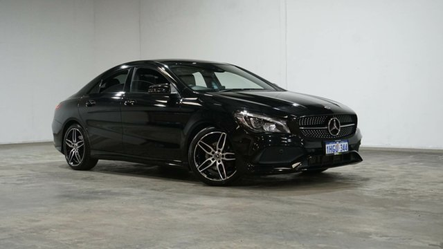 Used Mercedes-Benz CLA-Class C117 809MY CLA200 DCT Welshpool, 2018 Mercedes-Benz CLA-Class C117 809MY CLA200 DCT Cosmos Black 7 Speed Sports Automatic Dual Clutch