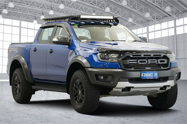 Used Ford Ranger PX MkIII 2019.00MY Raptor Victoria Park, 2018 Ford Ranger PX MkIII 2019.00MY Raptor Blue 10 Speed Sports Automatic Utility