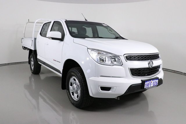 Used Holden Colorado RG MY16 LS (4x4) Bentley, 2015 Holden Colorado RG MY16 LS (4x4) White 6 Speed Automatic Crew Cab Chassis