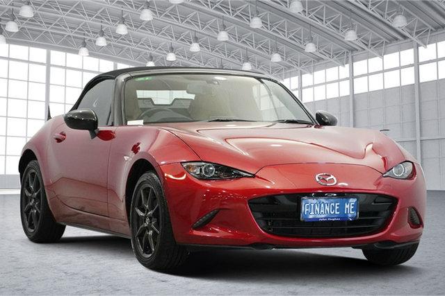 Used Mazda MX-5 ND SKYACTIV-MT Victoria Park, 2015 Mazda MX-5 ND SKYACTIV-MT Red 6 Speed Manual Roadster
