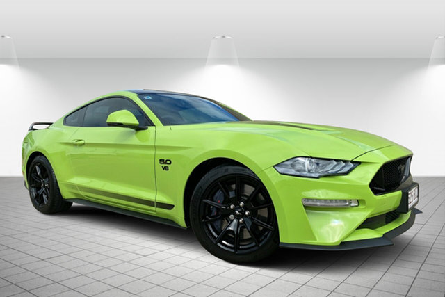 Used Ford Mustang FN 2020MY GT Hervey Bay, 2019 Ford Mustang FN 2020MY GT Green 10 Speed Sports Automatic Fastback