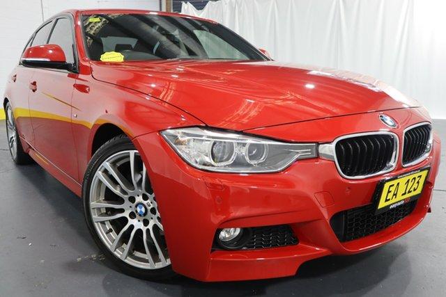 Used BMW 3 Series F30 MY0813 320d Castle Hill, 2013 BMW 3 Series F30 MY0813 320d Red/Black 8 Speed Sports Automatic Sedan