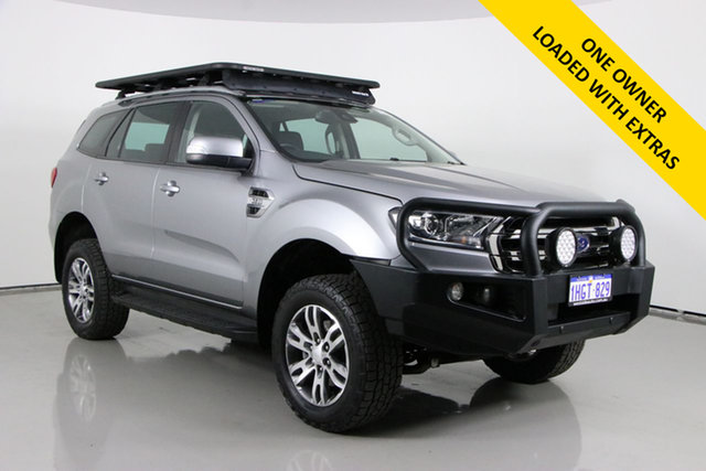 Used Ford Everest UA II MY19 Trend (4WD 7 Seat) Bentley, 2018 Ford Everest UA II MY19 Trend (4WD 7 Seat) Grey 6 Speed Automatic SUV