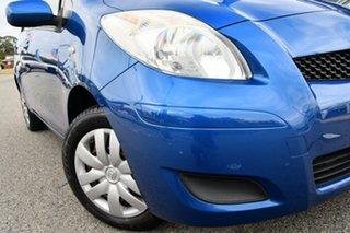 2010 Toyota Yaris NCP90R MY10 YR Blue 5 Speed Manual Hatchback.