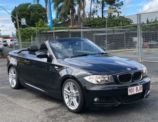 2009 BMW 120i E88 120i Black 6 Speed Automatic Convertible.