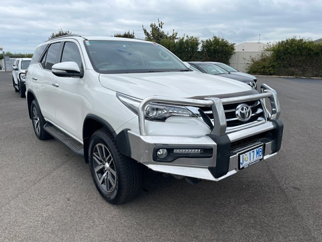 Used Toyota Fortuner GUN156R Crusade i-MT Devonport, 2017 Toyota Fortuner GUN156R Crusade i-MT White 6 Speed Manual Wagon