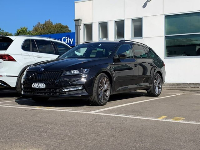 Demo Skoda Superb NP MY21 206TSI DSG SportLine Botany, 2021 Skoda Superb NP MY21 206TSI DSG SportLine Black 6 Speed Sports Automatic Dual Clutch Wagon