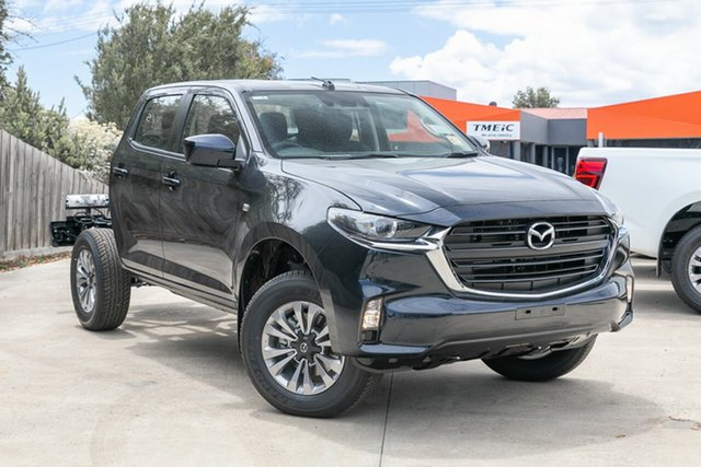 New Mazda BT-50 Mornington, 2021 Mazda BT-50 BT-50 B 6AUTO 3.0L DUAL CAB CHASSIS XT 4X2 True Black CRCCC