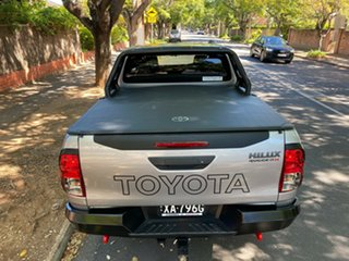 2018 Toyota Hilux GUN126R Rugged X Double Cab Silver 6 Speed Manual Utility