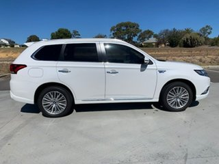 2018 Mitsubishi Outlander ZL MY19 PHEV AWD Exceed White 1 Speed Automatic Wagon Hybrid