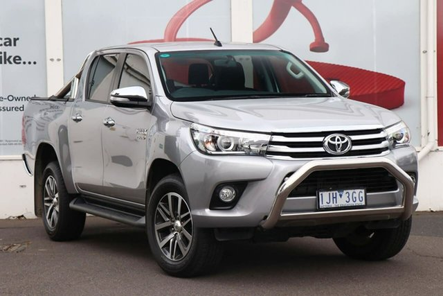 Pre-Owned Toyota Hilux GUN126R SR5 Double Cab Ferntree Gully, 2016 Toyota Hilux GUN126R SR5 Double Cab Silver Sky 6 Speed Sports Automatic Utility