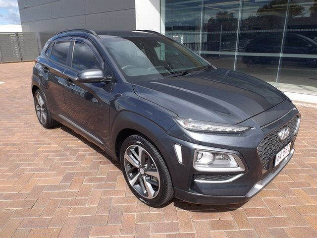 Used Hyundai Kona OS MY18 Highlander D-CT AWD Toowoomba, 2017 Hyundai Kona OS MY18 Highlander D-CT AWD Grey 7 Speed Sports Automatic Dual Clutch Wagon