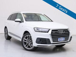 2019 Audi Q7 4M MY19 50 TDI Quattro White 8 Speed Automatic Tiptronic Wagon.