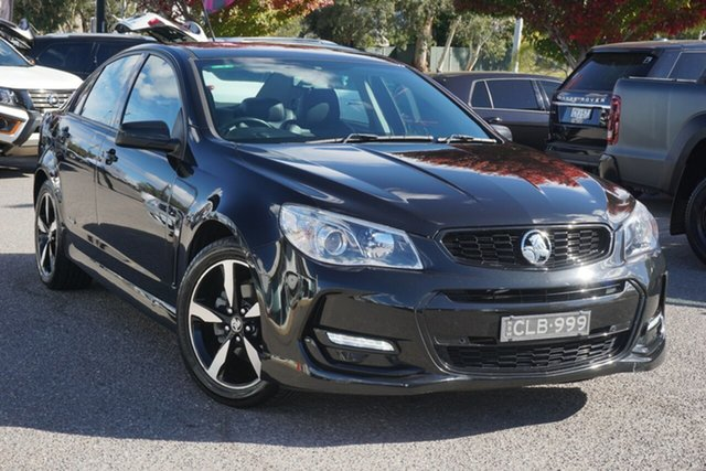 Used Holden Commodore VF II MY16 SV6 Black Phillip, 2016 Holden Commodore VF II MY16 SV6 Black Black 6 Speed Sports Automatic Sedan