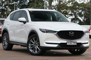 2018 Mazda CX-5 KF4W2A Akera SKYACTIV-Drive i-ACTIV AWD White 6 Speed Sports Automatic SUV.