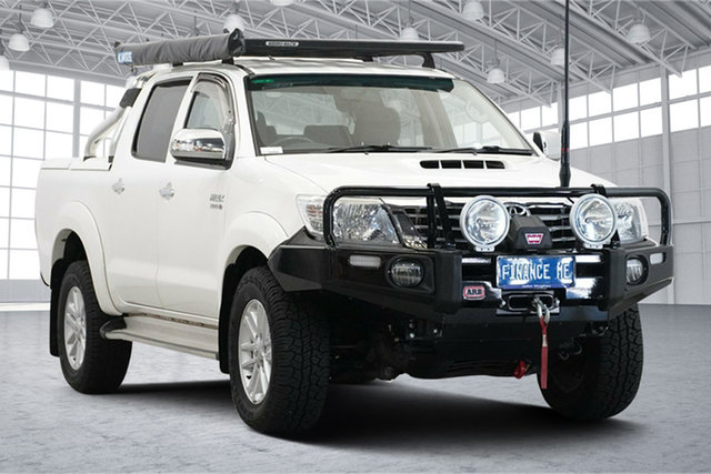 Used Toyota Hilux KUN26R MY12 SR5 Double Cab Victoria Park, 2013 Toyota Hilux KUN26R MY12 SR5 Double Cab White 4 Speed Automatic Utility