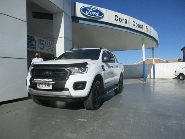 Used Ford Ranger PX MkIII MY19.75 Wildtrak 2.0 (4x4) Bundaberg, 2019 Ford Ranger PX MkIII MY19.75 Wildtrak 2.0 (4x4) White 10 Speed Automatic Double Cab Pick Up