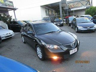 2007 Mazda 3 BK MY06 Upgrade Maxx Black 5 Speed Manual Sedan.