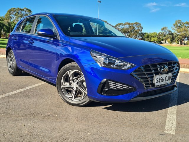 Demo Hyundai i30 PD.V4 MY21 Nailsworth, 2020 Hyundai i30 PD.V4 MY21 Intense Blue 6 Speed Manual Hatchback