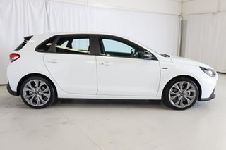2020 Hyundai i30 PD.V4 MY21 N Line D-CT White 7 Speed Sports Automatic Dual Clutch Hatchback.