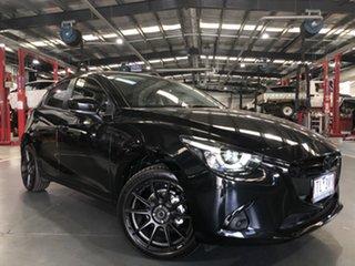 2019 Mazda 2 DJ Genki (5Yr) Black 6 Speed Manual Hatchback.