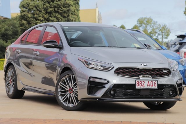 Demo Kia Cerato BD MY21 GT DCT Toowoomba, 2021 Kia Cerato BD MY21 GT DCT Steel Grey 7 Speed Sports Automatic Dual Clutch Sedan