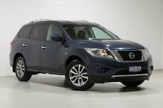 2016 Nissan Pathfinder R52 MY15 Upgrade ST (4x2) Blue Continuous Variable Wagon.