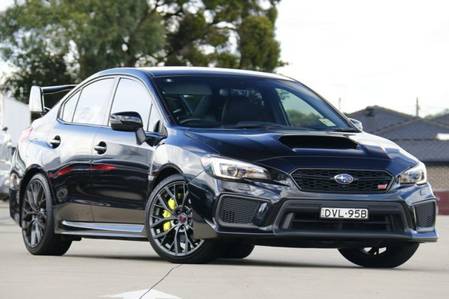 Used Subaru WRX V1 MY18 STI AWD Premium Chullora, 2018 Subaru WRX V1 MY18 STI AWD Premium Black 6 Speed Manual Sedan