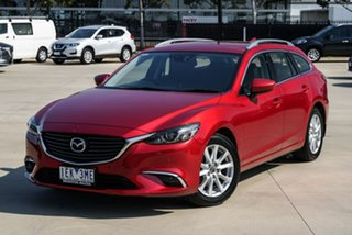 2014 Mazda 6 GJ Touring Red Sports Automatic Wagon.