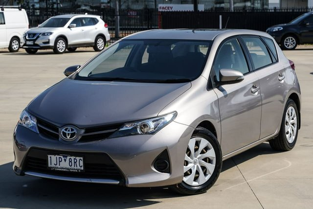 Used Toyota Corolla ZRE182R Ascent S-CVT Narre Warren, 2014 Toyota Corolla ZRE182R Ascent S-CVT Brown 7 Speed Constant Variable Hatchback