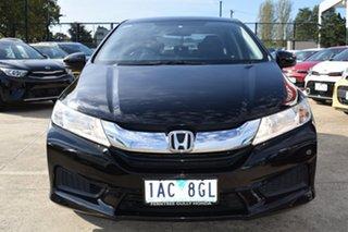 2014 Honda City GM MY14 VTi Black/Grey 5 Speed Manual Sedan.