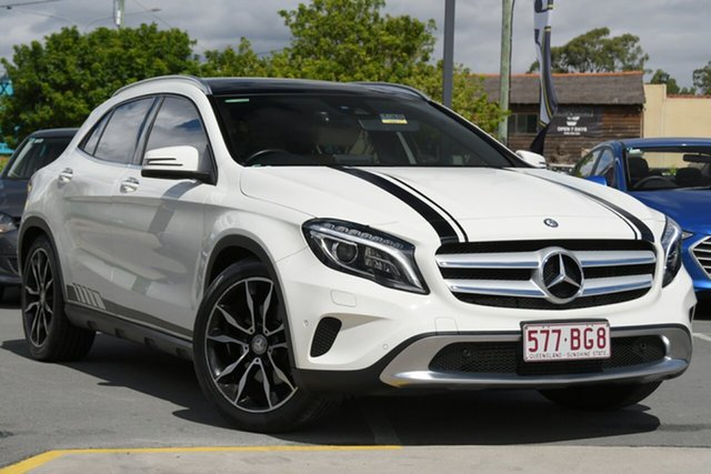 Used Mercedes-Benz GLA-Class X156 806MY GLA250 DCT 4MATIC Aspley, 2015 Mercedes-Benz GLA-Class X156 806MY GLA250 DCT 4MATIC White 7 Speed Sports Automatic Dual Clutch