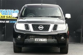 2011 Nissan Navara D40 S6 MY12 ST-X 550 Black 7 Speed Sports Automatic Utility.