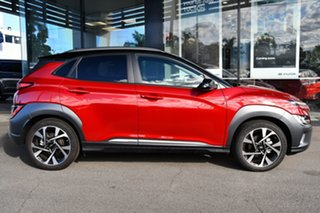 2020 Hyundai Kona Os.v4 MY21 Highlander TTR (FWD) Pulse Red, Mica/Metallic Premi Continuous Variable