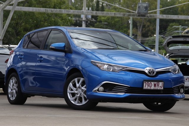 Used Toyota Corolla ZRE182R Ascent Sport Bundamba, 2016 Toyota Corolla ZRE182R Ascent Sport Blue 6 Speed Manual Hatchback