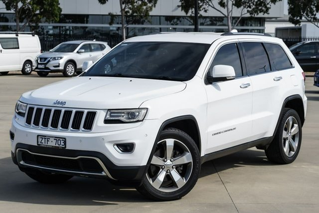 Used Jeep Grand Cherokee WK MY2014 Limited Narre Warren, 2013 Jeep Grand Cherokee WK MY2014 Limited White 8 Speed Sports Automatic Wagon