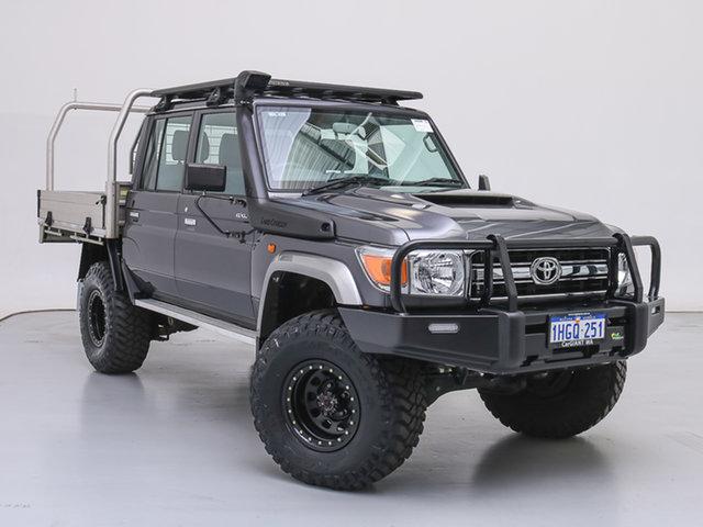 Used Toyota Landcruiser VDJ79R GXL (4x4), 2018 Toyota Landcruiser VDJ79R GXL (4x4) Grey 5 Speed Manual Double Cab Chassis