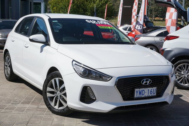 Used Hyundai i30 GD4 Series II MY17 Active Phillip, 2017 Hyundai i30 GD4 Series II MY17 Active White 6 Speed Manual Hatchback