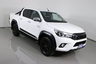 2017 Toyota Hilux GUN126R SR5 (4x4) White 6 Speed Manual Dual Cab Utility