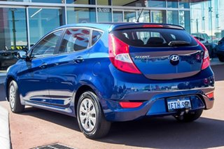 2015 Hyundai Accent RB2 MY15 Active Blue 6 Speed Manual Hatchback.