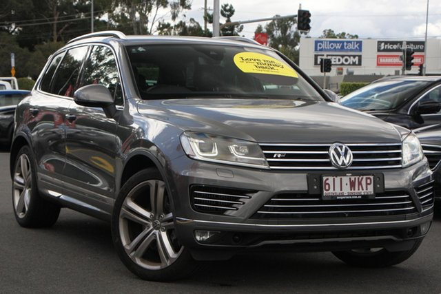 Used Volkswagen Touareg 7P MY15 V8 TDI Tiptronic 4MOTION R-Line Aspley, 2015 Volkswagen Touareg 7P MY15 V8 TDI Tiptronic 4MOTION R-Line Grey 8 Speed Sports Automatic Wagon