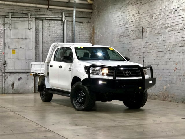 Used Toyota Hilux GUN126R SR Double Cab Mile End South, 2018 Toyota Hilux GUN126R SR Double Cab White 6 Speed Sports Automatic Cab Chassis