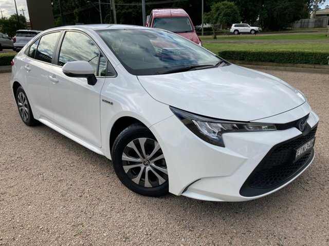 Pre-Owned Toyota Corolla ZWE211R Ascent Sport E-CVT Hybrid South Grafton, 2020 Toyota Corolla ZWE211R Ascent Sport E-CVT Hybrid Glacier White 10 Speed Constant Variable