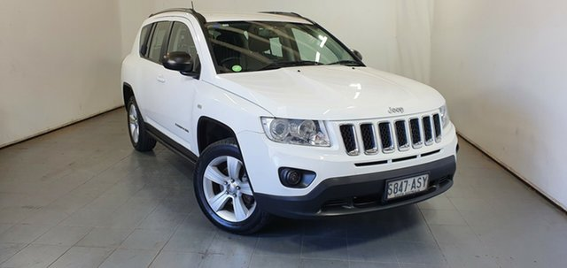 Used Jeep Compass MK MY12 Sport CVT Auto Stick Elizabeth, 2012 Jeep Compass MK MY12 Sport CVT Auto Stick White 6 Speed Constant Variable Wagon
