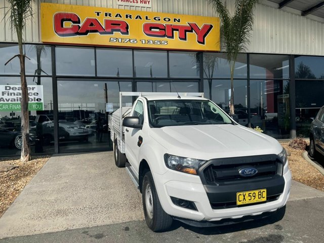 Used Ford Ranger PX MkII XL 2.2 Hi-Rider (4x2) Traralgon, 2016 Ford Ranger PX MkII XL 2.2 Hi-Rider (4x2) White 6 Speed Automatic Cab Chassis